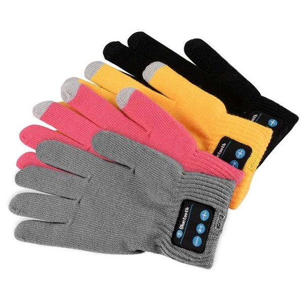 Guanti Bluetooth per donna Uomo Inverno Knit Warm Mittens Call Talking Screen Gloves Mobile Phone Pad