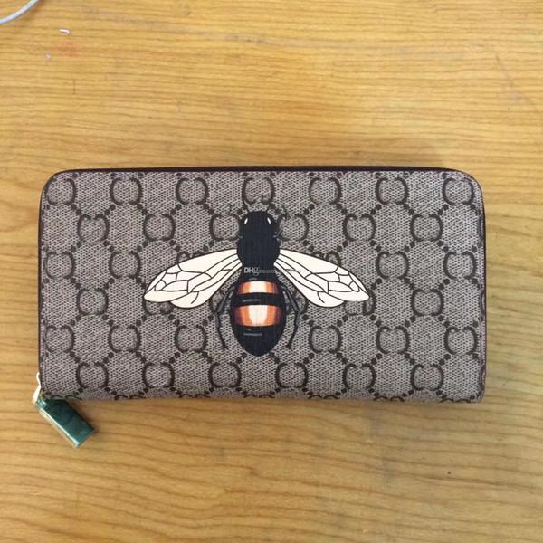 Mode Lange Stil Designer Clutch Frauen Geldbörse Marke leinwand Brieftasche Bifold Kreditkarteninhaber Brieftaschen Staubbeutel GUU # 60017