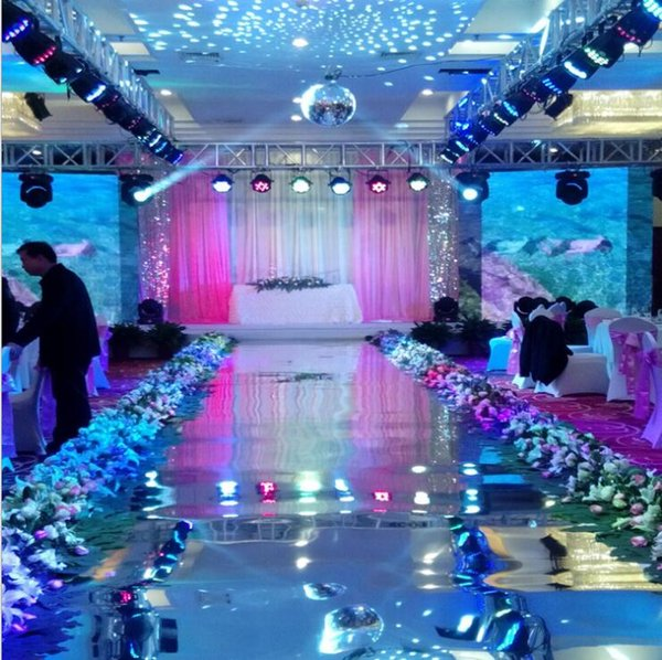 10m Per lot 1m Wide Shine Silver Mirror Carpet Aisle Gold Runner For Romantic Wedding Favors Party Decoration Sparkling Birthday Party