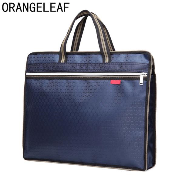 New A4 PU Office Briefcases For Men And Women Lightweight Messenger Bag Men  File Storage Bag Handbag Briefcases