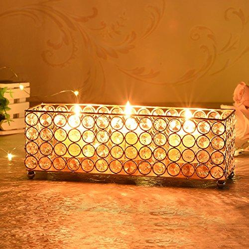 Rectangular Votive Candle Holder Cube Candle Stand Metal Candlestick Craft Wedding Holiday Table Centerpieces Christmas Home Decoration