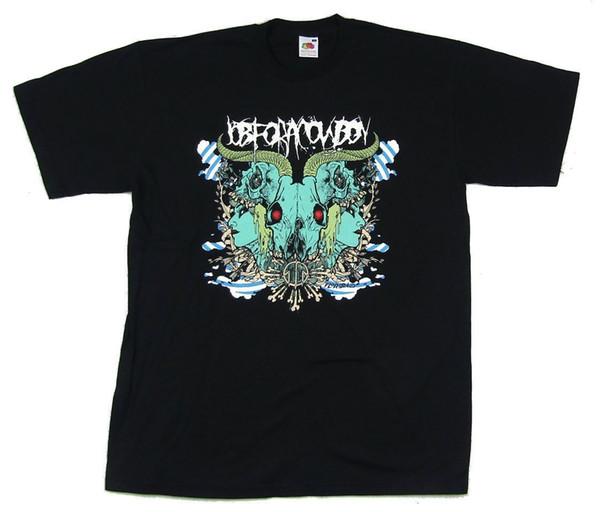Job for A Cowboy Rorschach Skull Girl Image Black T Shirt New Official Merch New 2018 Fashion T Shirt Men