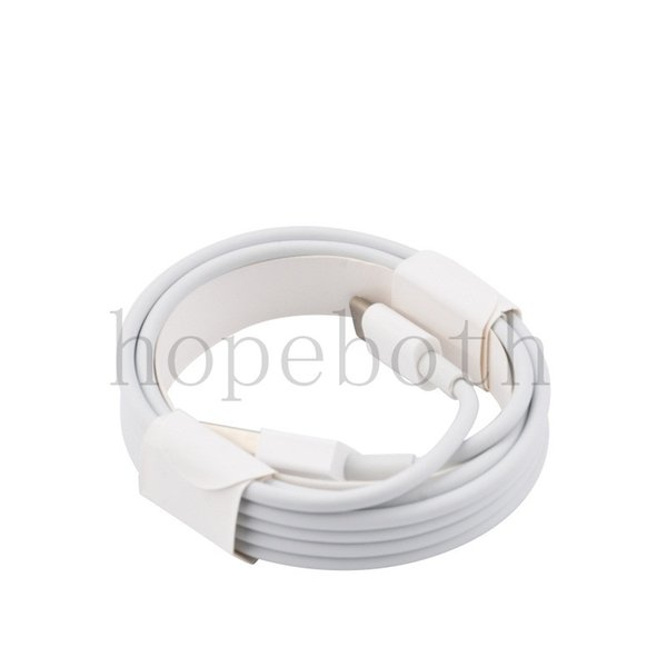 1M 2M 3M OEM White Wire USB Charger powerline Data Sync Cable Cord Phone Cable For i 7 8 Plus X 50pcs/lot