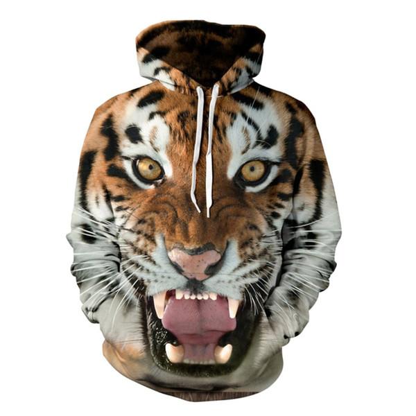Oversize S-5XL Men/Women Hoodies Hooded College Jacket 3d Print Tiger Men Sweatshirt Long Sleeve Cap Hoodies Tracksuit Hoody