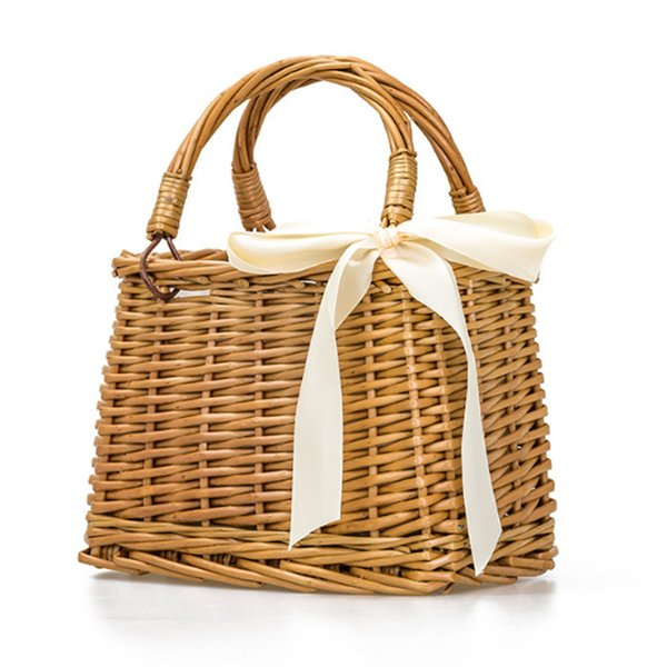 2018 SUNNY BEACH 2018 nuevo Bolso cuadrado de las mujeres de la rota bolsa tejida cesta rota cuadrado bolso tejido bolso ocasional