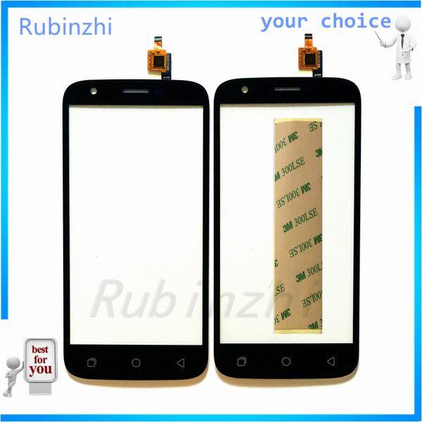 RUBINZHI Phone Touch Screen Panel Front Glass For Ulefone U007 Touchscreen Sensor Digitizer Free Shipping With 3M Sticker