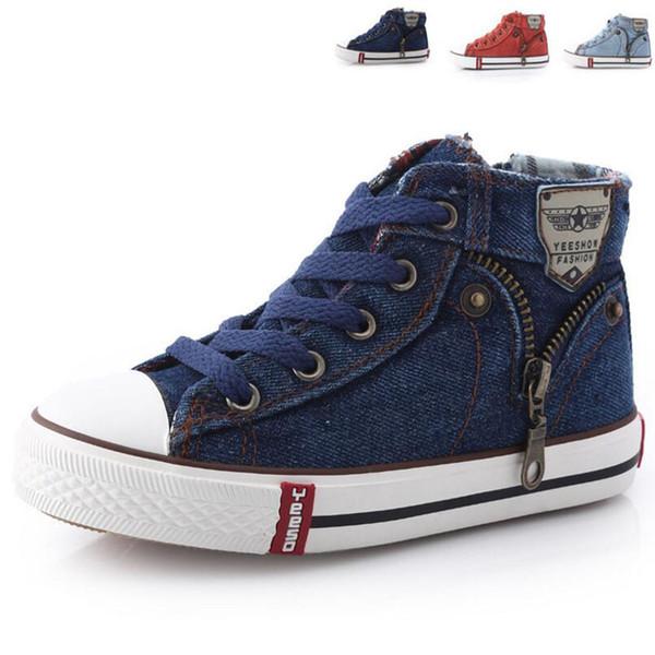 Enfants Casual Chaussures Mode Printemps Eté Chaussures De Toile Pour Enfants Garçons 3 Couleurs En Gros Livraison Gratuite