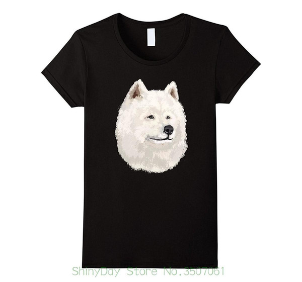 Round Neck Best Selling Male Natural Cotton Shirt Samoyed Dog T Shirt Tshirt I Love Samoyed