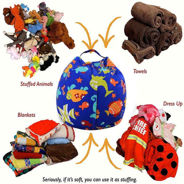 Kids Lazy Bean Bag Sofas Children Tatami Leisure Bean Storage Bag Seat 43 Designs 18 Inches DDA49