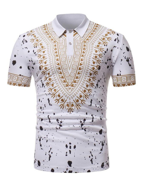 39a8e7338f9b6 2019 2018 New Amazon Hot Sale Men'S Short Sleeved POLO Shirts African  Turkish Wind Printing Shirts Black/ White From Bapeaape, $28.23   DHgate.Com