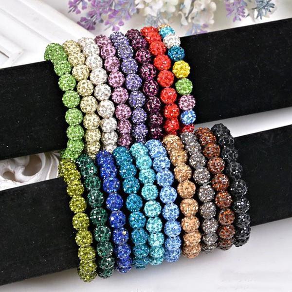 New Women Shambala Jewelry 15 Colors Shamballa Bracelets For Women Crystal Bracelets & Bangles Wholesale
