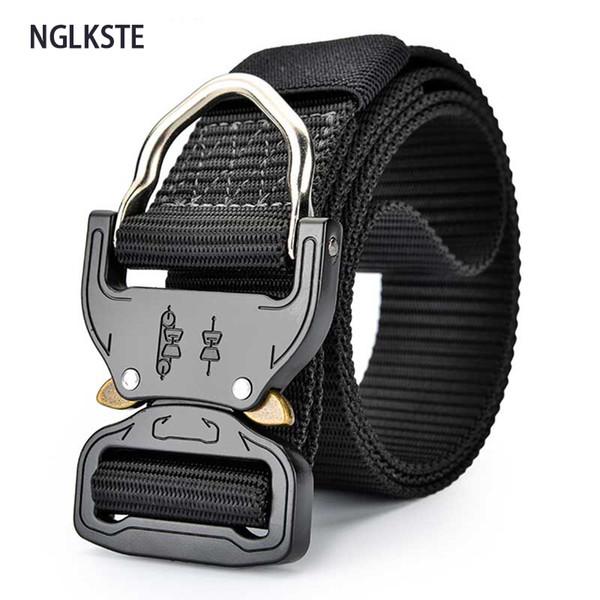 Cinturones tácticos para hombres, fanáticos del ejército, fuerzas especiales, estudiantes, entrenamiento, cinturones, actividades al aire libre, cinturones de secado rápido.