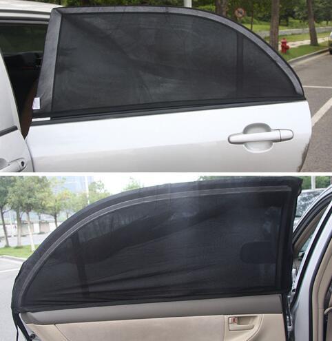 Factory Direct 2Pcs Car Side Rear Windshield Window Glass Sun Shade Mesh Cover Solar UV Protection Visor Shield Sunshade Auto Accessories