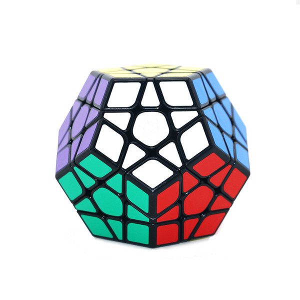 Megaminx Magic Cubes Pentagon 12 Sides Gigaminx PVC Sticker Dodecahedron Block Toys Twist Puzzle DIY Educational Toy for Children