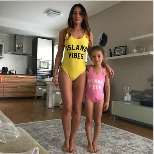 7d5ffb501f3bb Mother And Daughter Clothes Classic Family Clothing Swimwear Mommy ...