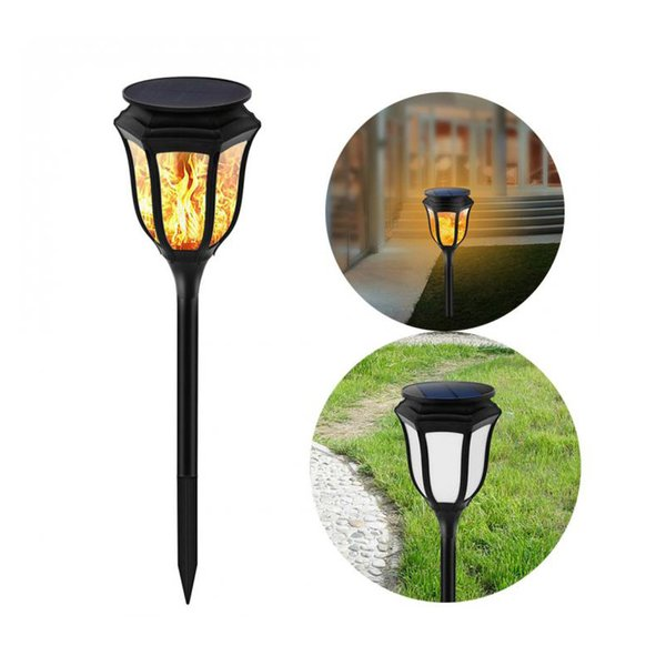 Solar Lights,Waterproof Flickering Flames Torches Lights, 96 led Outdoor Landscape Torch Light,Dancing Flame Lighting 2 pcs in a pack