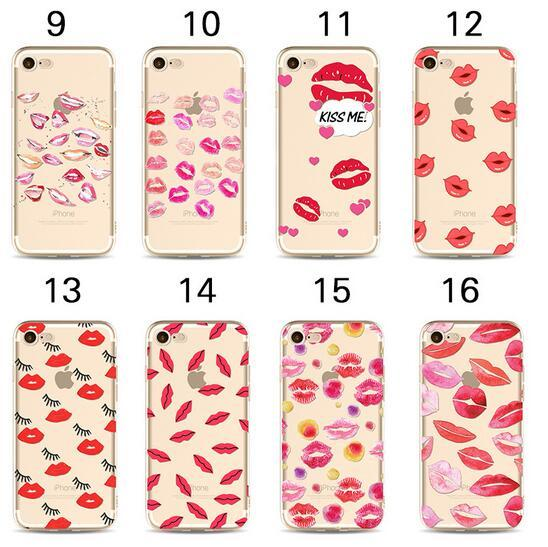 3D Cartoon Sexy Lips Lipstick Soft tpu Painted Case for iPhone X XS MAX XR 8 7 6 6s plus 5 5s se 5c Cute Phone Shell Cover