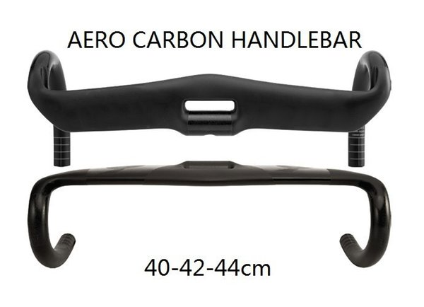 2018 Newest Aero Road bicycle racing UD carbon fibre handlebar internal carbon bike handlebar 31.8*400 420 440mm