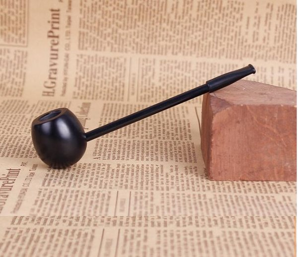 straight pole Ebony wood pipe Creative Popeye straight tobacco pipe vintage retro black cigarette holder pot classical wooden dry herb pipes