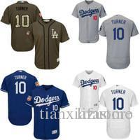 uk availability 4dfd8 af582 2019 Royal Blue White Grey Green Justin Turner Authentic Jersey , Men'S #10  Ls As Dodgers Flexbase Collection From Chen_shop, $16.26 | DHgate.Com