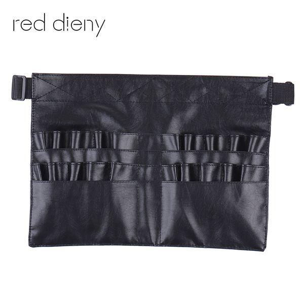 Dutiful Black Two Arrays Makeup Brush Holder Professional Pvc Apron Bag Artist Belt Strap Protable Make Up Bag Cosmetic Brush Bag Moderate Price Makeup Tools & Accessories Eye Shadow Applicator