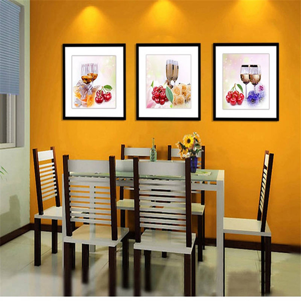 Canvas Kitchen wine glasses Fruit Pictures Print Oil Wall Paintings Modern Painting On Art Modular Picture Cuadros Decoracion