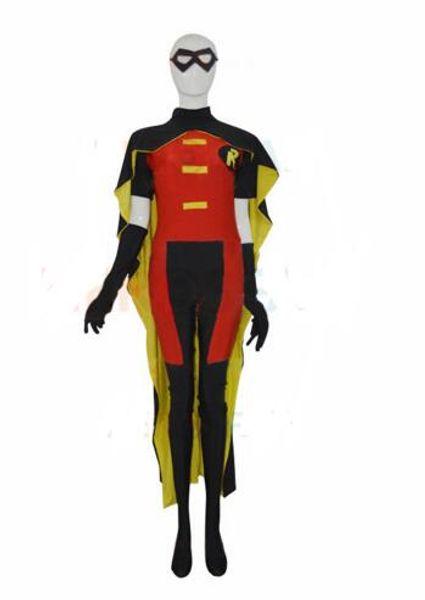 Red Robin Comics Strong Mens' Superhero CostumeCosplay Halloween party Suit