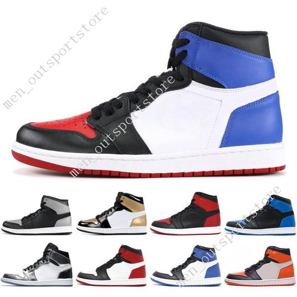 1s OG 1 top 3 mens basketball shoes Homage To Home Banned Bred Toe Chicago Game Royal Blue Shattered Backboard UNC Barons men sport sneakers