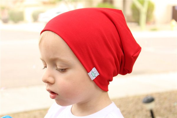 Fashion Cute Solid Knitted Cotton Hats For Newborn Baby Children Autumn Winter Warm Earmuffs Colorful Crown Caps Skullies TO982