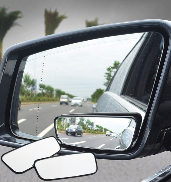 Pair Motorcycle Adjustable Wide Angle Rear View Blind Spot Mirror Blue Towing Products & Winches Exterior Accessories