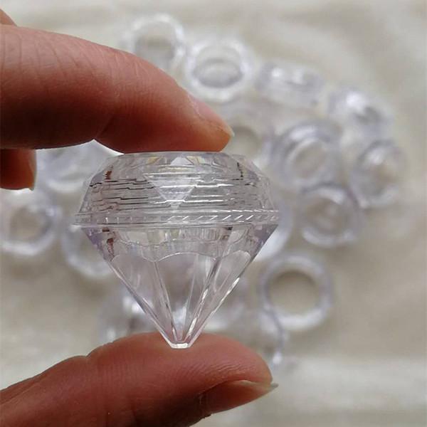 150pcs 5G / 5ML Claro Tarro de crema de forma de diamante pequeño para muestra de cosméticos Crema de olla de envase