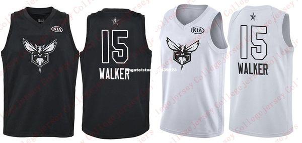 4b31207197f Cheap 2018 All-Star Charlotte  15 Kemba Walker Jersey Mens White Black  Basketball Jerseys