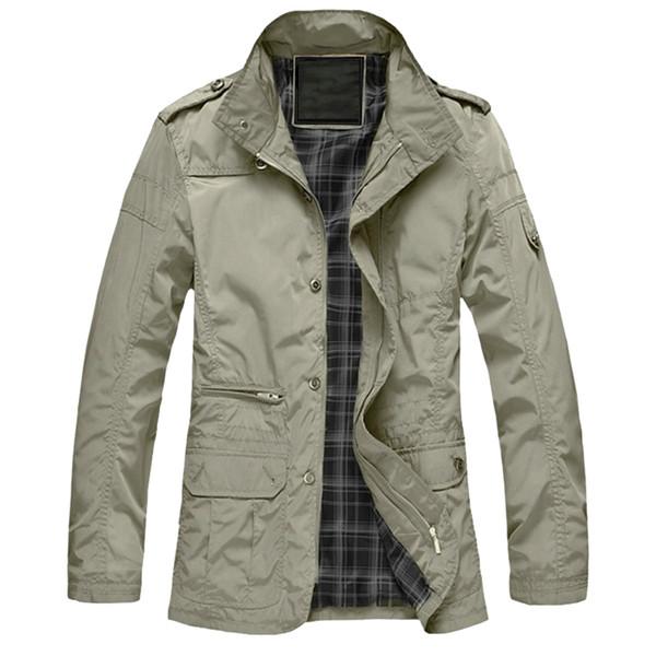 M-5XL Men Big Size Casual Long Jacket Spring Autumn Male Business Windbreak Thin Outwear Parka Loose Varsity Bomber Coat CF26