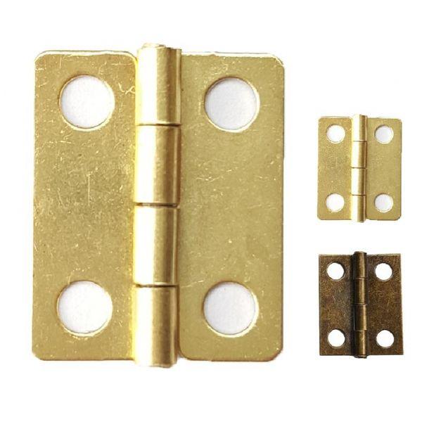 1000pcs / lot cerniere d'ottone piccole di 18 * 15mm per la decorazione all'ingrosso del contenitore di regalo del mestiere placcato scatola di legno