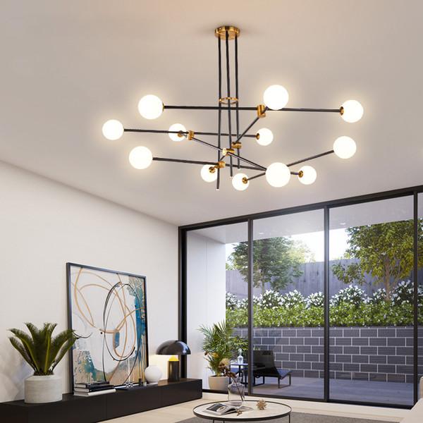 Nordic original LED pendant lights minimalist designer magic bean branch style pendant lamp living room lighting-I11