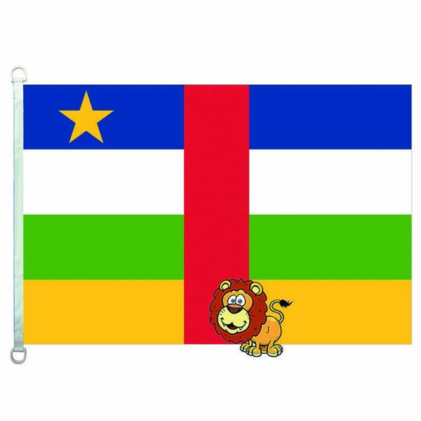Bandiera delle bandiere dei paesi della Repubblica Centrafricana, 90 * 150 cm, 100% poliestere, banner, stampa digitale