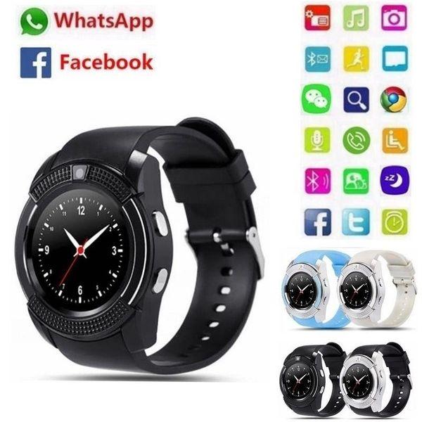 Smart Watch Bluetooth Smartwatch with Camera Touch Screen SIM Card Slot, Waterproof Phones Smart Wrist Watch Sports Fitness Compatible