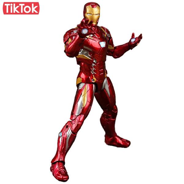 Captain America Civil Clint Iron Man Tony Stark Cartoon Toy Pvc Action Figure Model Gift