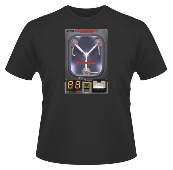T-shirt dos homens, capacitor de fluxo inspirado por De volta ao futuro Presente ideal de Birthd