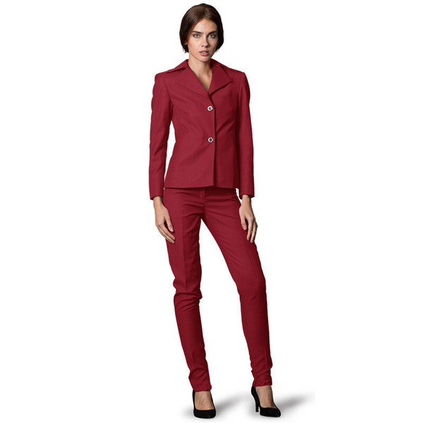 Custom Made Women Business Suits Single Breasted Formal Women's Office Unifrom Ladies Pants Slim Suit 2 Piece Jacket + Pants