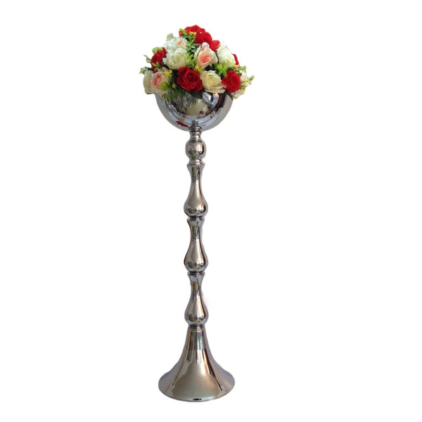 25cm Silver Art Vase Home Decorative Ornament Display Tabletop Flower Vase Decor