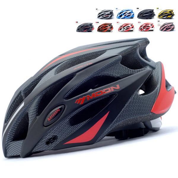 MOON Cycling Helmet Men or Women Ultralight Integrally-molded Bike Helmet for Mountain and Road Bicycle Helmet 55-61CM Y1892908