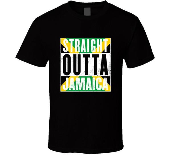T-shirt Straight Outta Jamaica Rasta fierté jamaïcaine pour homme