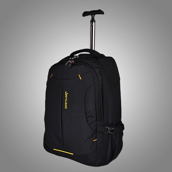 Trolley mochila escolar para adultos bolsa de cinturón rueda doble hombro paquete de tracción final de un solo equipaje impermeable, 19 21 pulgadas Multiuso