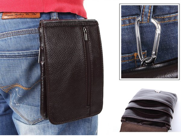 Genuine Leather Vertical Waist Bag case For iPhone XR XS/XS Max/7 Plus/8 Plus/6s 6 5 5s Cell Phone Belt Clip Pouch Holster Cover