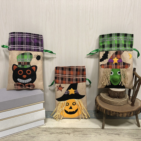 Bolsa de Decoraciones de Halloween Bolsa Festival de Niños Dulces Regalo Calabazas Draw String Bolso Hotel Supermercado Fiesta de Casa Joyería de Vestuario