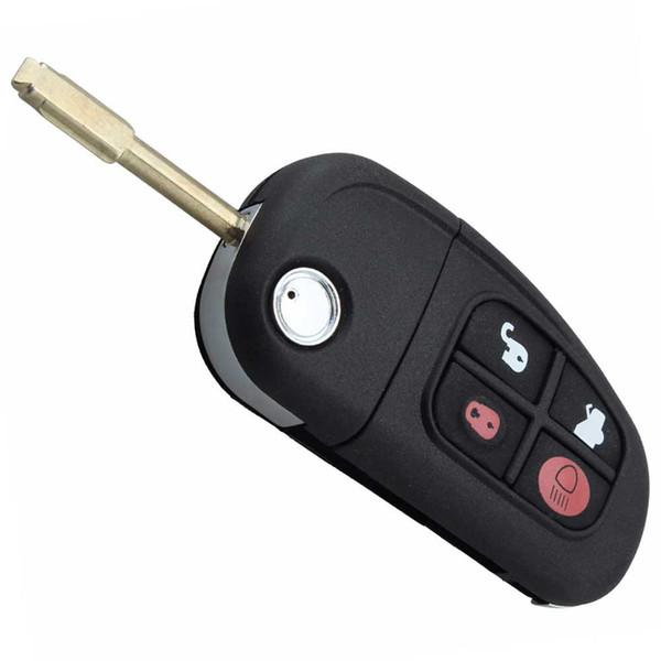 best selling Car 4 Buttons Remote Flip Folding Key FOB Case Shell Uncut Blade For Jaguar X type XJ type S type