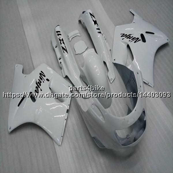 23colors + 5Gifts ABS weiße Verkleidung für Kawasaki ZX-11 ZZR1100 1993-2001 ZZR 1100 93 94 95 96 97 98 99 00 01 Karosserienmotorrad