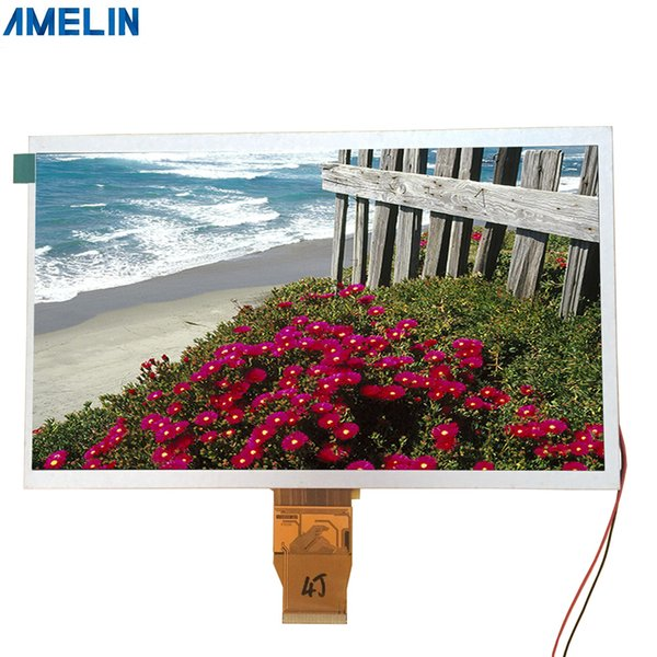 10.1 inch 1024*600 resolution TFT LCD Module screen with RGB Interface display from shenzhen amelin panel manufacture