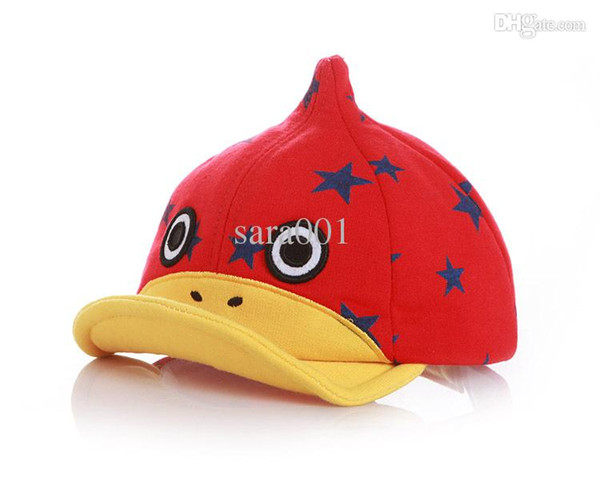 So Lovely! 2015 New Cartoon Duck Baby Cap Kid Hat Baby Hat Beret Cap For Boy High Quality Baseball